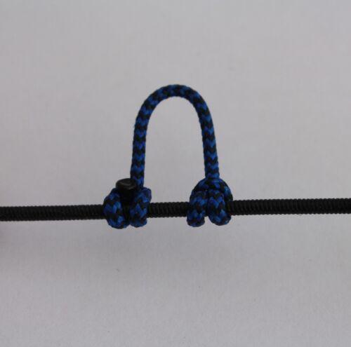 1,2,5,10 Bleu /& Noir Moucheté Boucle D BCY # 24 Corde Tir à L/'Arc libération Bowstring