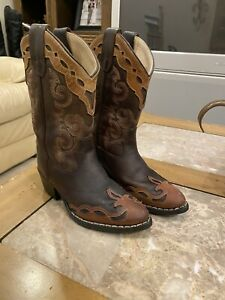 girls leather boots size 11