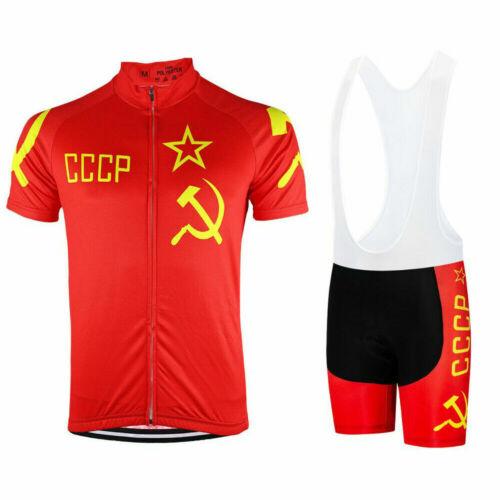 RUSSIA CCCP SOVIET UNION Cyclisme Jersey et bavoir Short Set