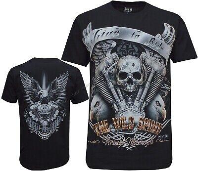 Shirt M-3XL Eagle Biker Native American Indian Motorbike Motorcycle Thunder T