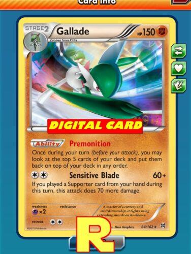 DIGITAL ptcgo in Game Card Premonition - for Pokemon TCG Online Gallade