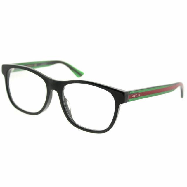 b2a77b90ab Gucci GG 0004oa 002 Asian Fit Black Plastic Square Eyeglasses 55mm ...