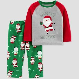 0f2ab746a3 Toddler Boys Just One You Santa s Sidekick 2 Pc LS Fleece Christmas ...