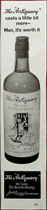 The Antiquary Del Luxe Old Scotch Whiskey Man, It's Worth It Vintage Advert 1967