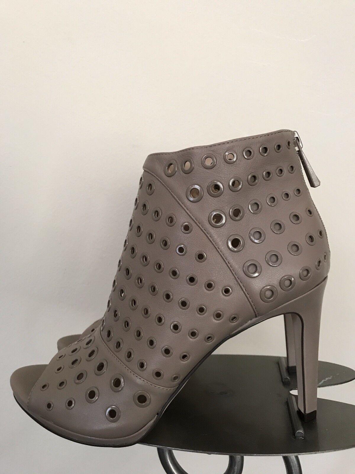 BCBGMAXAZRIA New Desert Sand Grommet Ankle Boot Peep Toe Heel Schuhe Größe 10 NWB