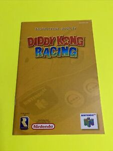 🔥DIDDY KONG RACING - N64 Instruction Booklet Manual Book Original Nintendo 64