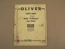 Oliver Model 4 Mounted Corn Picker Service Repair Parts List Catalog 1955
