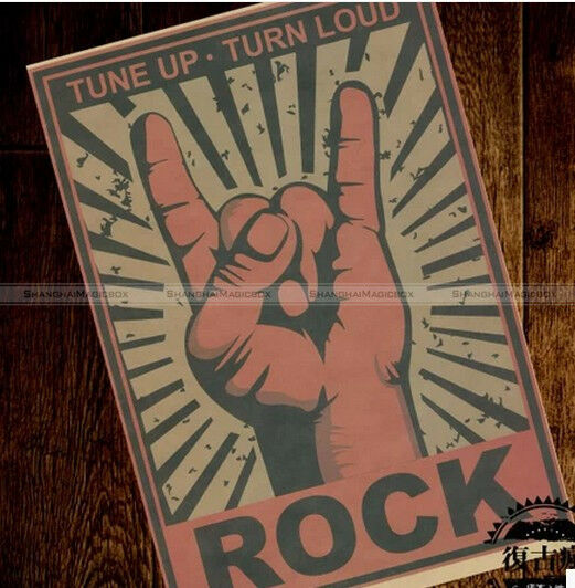 Vintage Style Retro Paper Poster Rock Sign Good Gifts 42*30cm HOME032