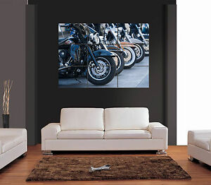 Image Is Loading HARLEY DAVIDSON MOTORCYCLES Vector Giant Wall Art Print