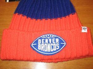 Brand New with Tags Denver Broncos 47 Brand NFL Knit Hat Beanie  1fd7fc751b6e