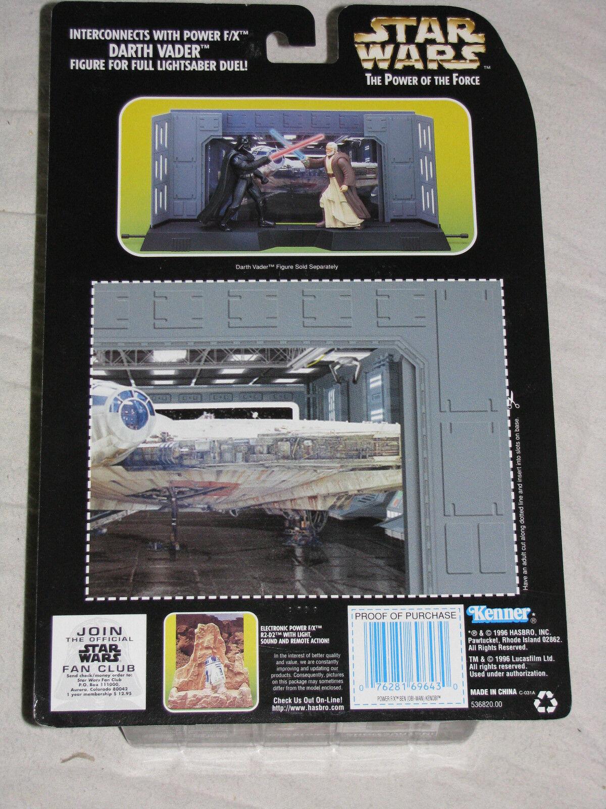STAR WARS Electronic Power F F F X- Obi-Wan Kenobi,Darth Vader,R2-D2,Palpatine,Luke 2f01b2