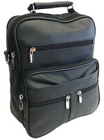 Genuine Leather Large Messenger Bag Men's Purse For Tab & Laptop With Organizer