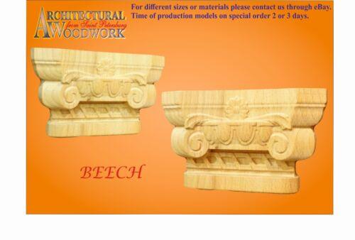 Solid Hardwood Greek//Roman Ionic Capitell
