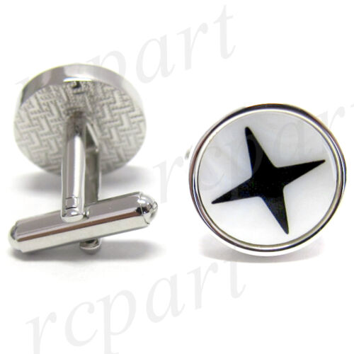New Men/'s Cufflinks Cuff Link Round Mother of Pearl Wedding Formal Prom #17