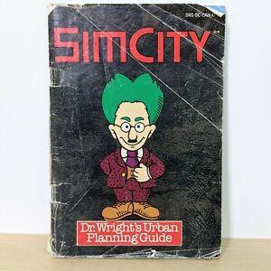 Sim City SNES Super Nintendo Instruction Booklet Manual