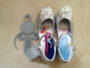 0428f05001cae Details about Disney Store Exclusive Frozen Elsa & Anna Silver Glitter  Shoes All Sizes *LOOK*