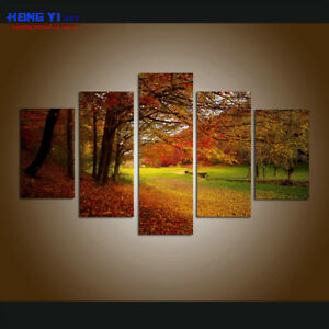 large modern forest landscape canvas print painting wall art home