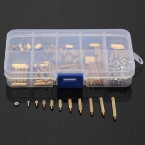 270-Pcs-Male-Female-Brass-PCB-Spacer-Standoff-Screw-Nut-Assortment-Threaded-M2