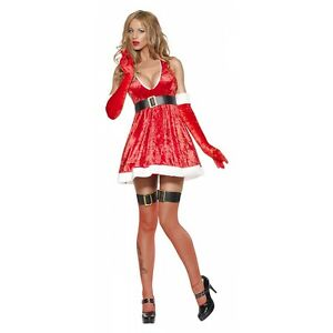 Sexy-Christmas-Costume-Womens-Santa-Outfit-Mrs-Claus-Fancy-Dress