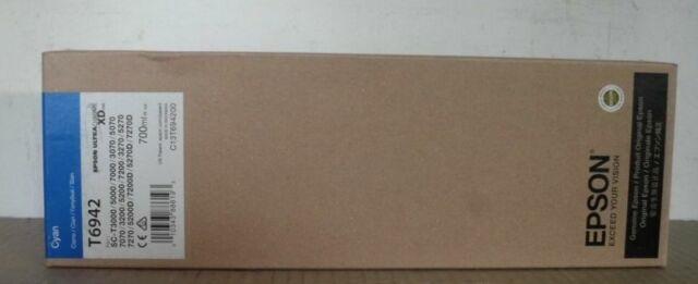 Epson Tinte T6942 cyan SC-T3000 SC-T3200 SC-T5000 5200 7000 7200  2017 OVP