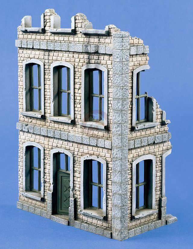 Verlinden 1 35 Ruined City House Building Corner Section II WWII [Diorama] 1425