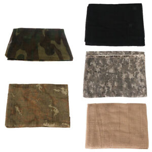 Details about Breathable Military Multifunctional Cotton Camo Scrim Scarf  Face Veil Mask
