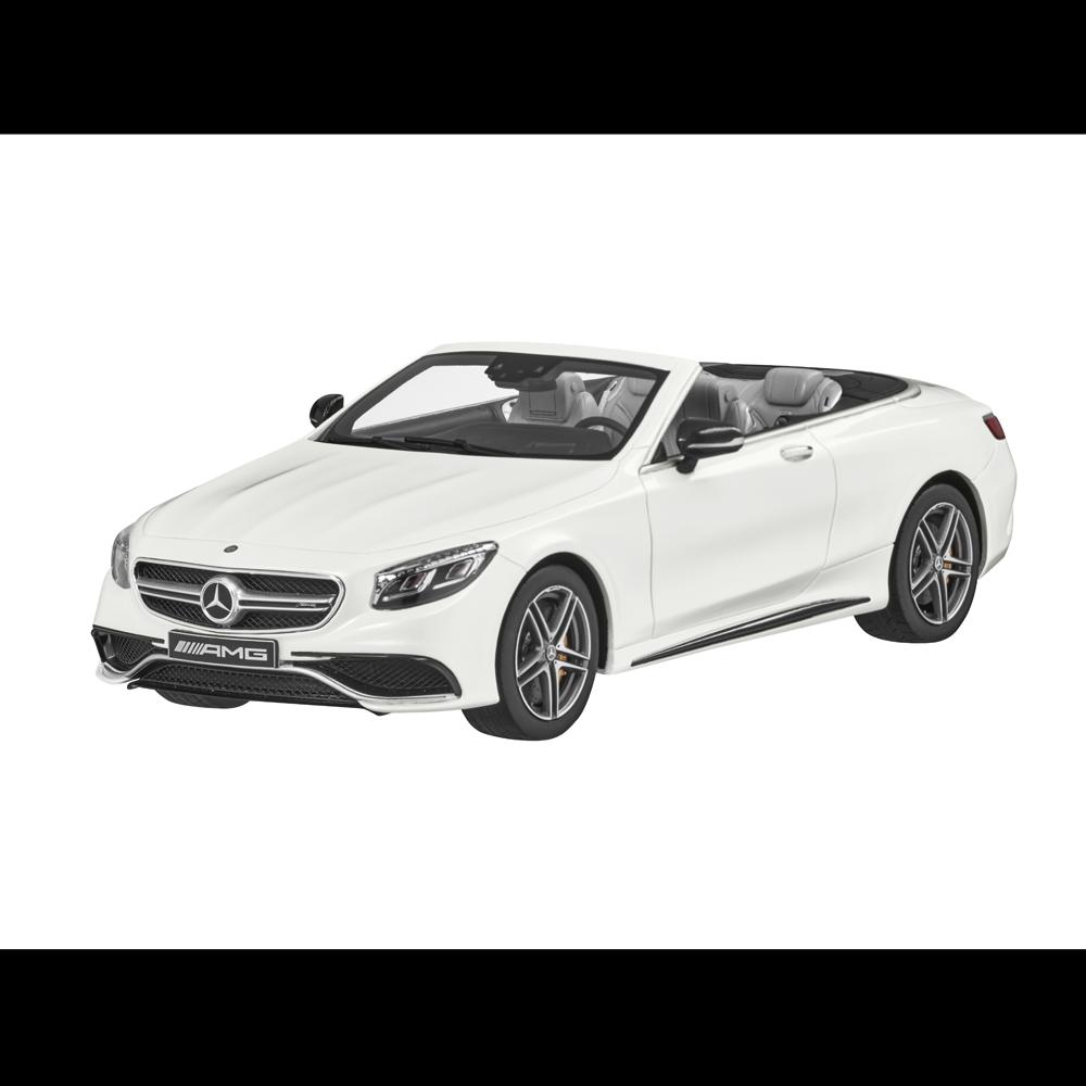 Mercedes - benz ein 217 s klasse cabrio s 63 amg wei ß 1,18 neu ovp