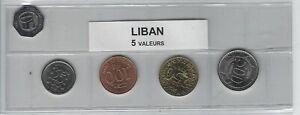 Livraison Rapide Liban Série De 5 Pièces De Monnaie