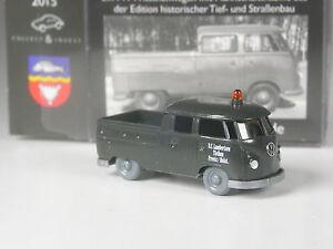 Wiking-C-amp-I-Sondermodell-VW-T1-Pritsche-mit-Doppelkabine-Lambertsen-Tiefbau