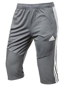 En segundo lugar planes Iniciar sesión  Adidas Hommes Tango 19 3/4 Pantalon Training Gris Capri Running Jogging Gym  Pant DW4740 | eBay