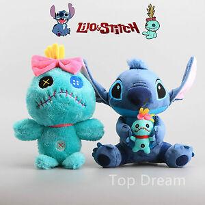 Disney-Lilo-Stitch-amp-Scrump-Plush-Toy-Soft-Stuffed-Doll-10-039-039-13-039-039-Teddy-Kid-Gift