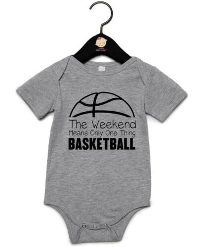 """Baby Grow /""""Weekends Mean One Thing Basketball/"""" Basketball Vest"""