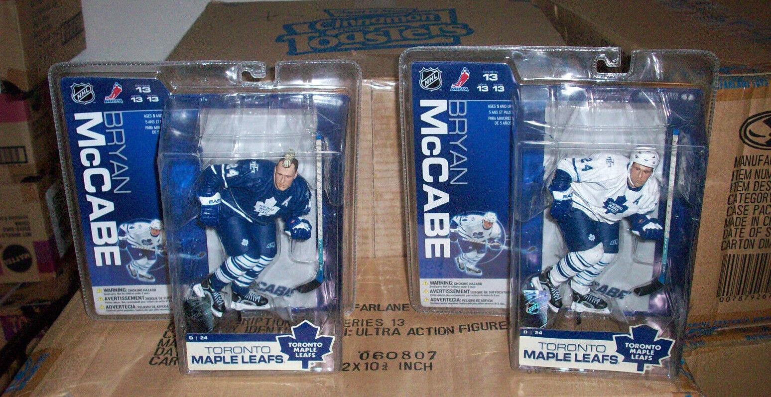 McFARLANE NHL 13 BRYAN McCABE MO HAWK VARIANT & REGULAR LOT HOCKEY ACTION FIGURE