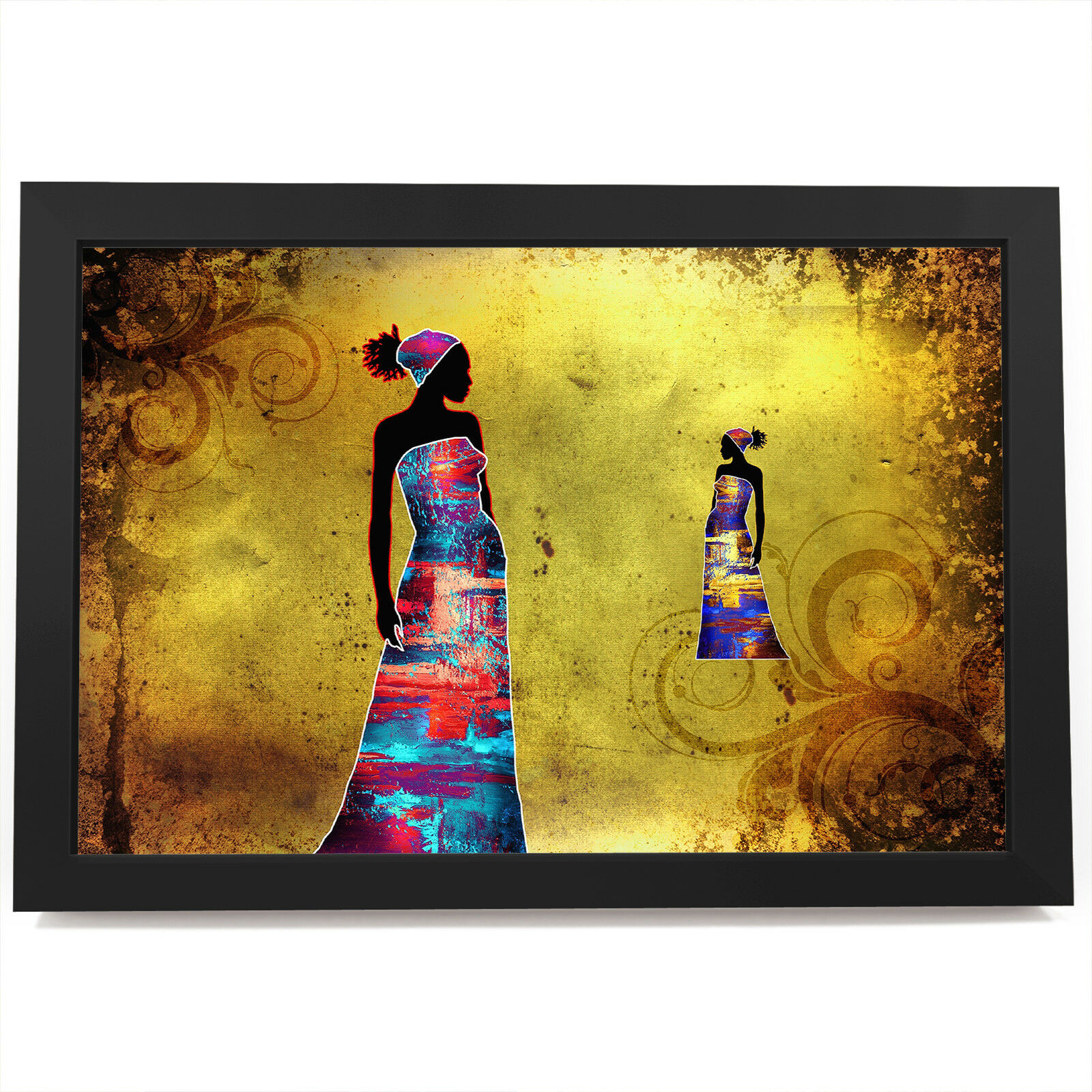 AB771 Retro Colourful Cool Modern Abstract Framed Wall Art Large Picture Prints