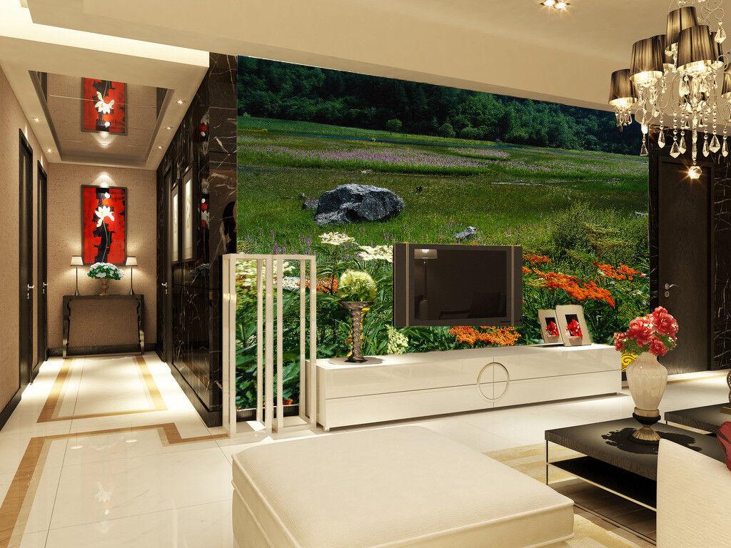 3D Garten Steine Sträucher 743 Tapete Wandgemälde Tapete Tapeten Bild Familie DE | Ruf zuerst  | Verwendet in der Haltbarkeit  | Kaufen