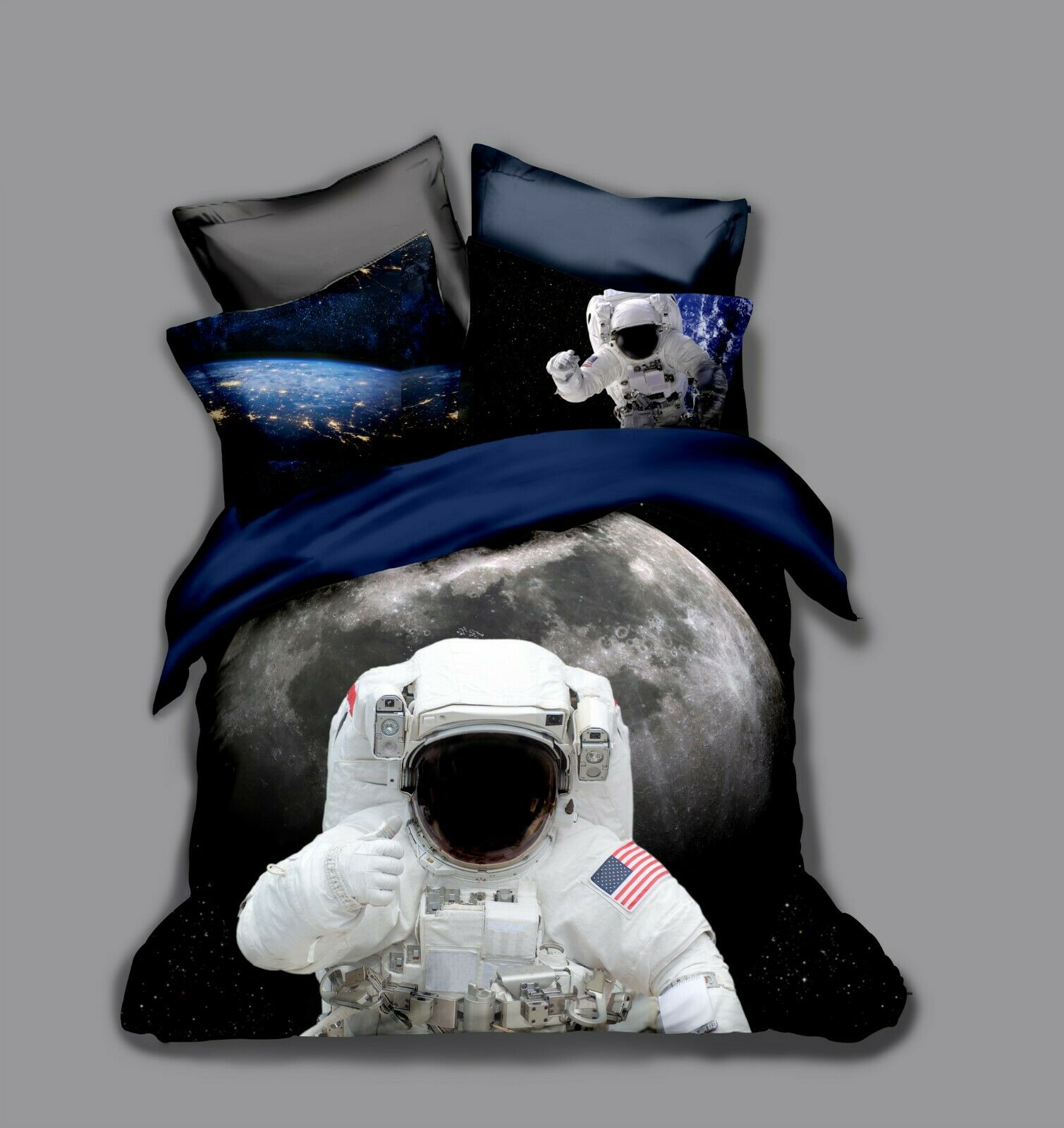 3D Spaceman Space Quilt Cover Set Bedding Duvet Cover Single Queen King 103