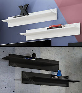 Floating Shelves Wall Mounted Shelf New White And Black Home Decor