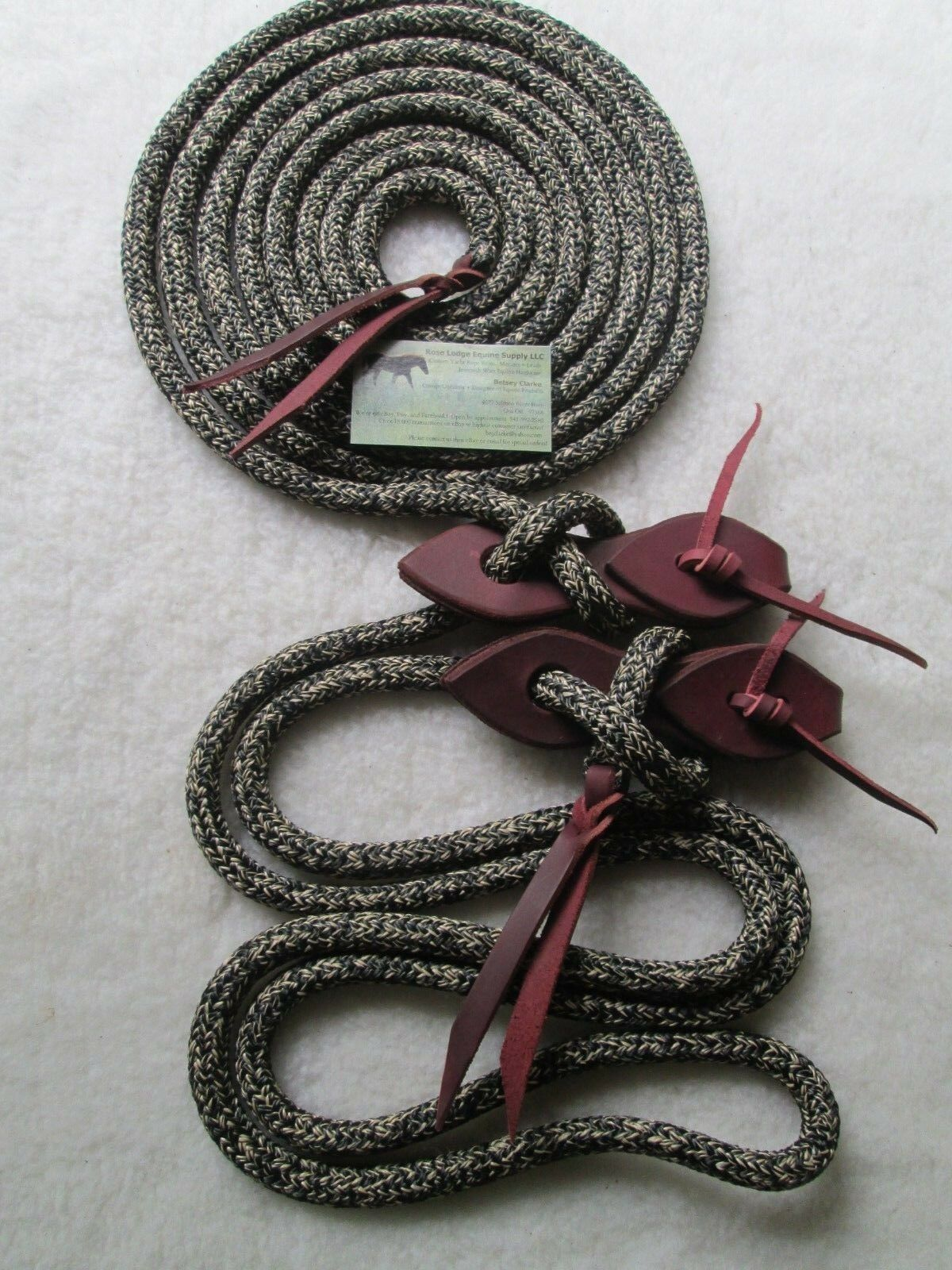 22' CAMO Yacht Rope Mecate Reins w Teardrop Slobber Straps,  pink Lodge Equine   choose your favorite