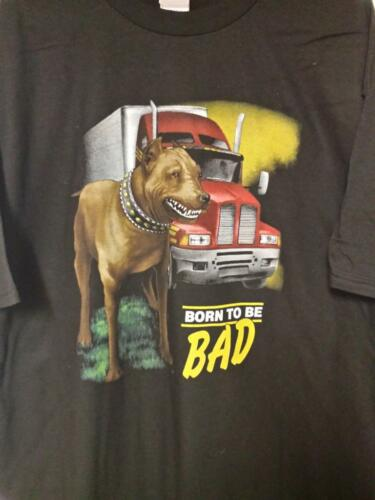 BORN TO BE BAD PITBULL DOG and Simi Diesel TRUCK T-SHIRT New