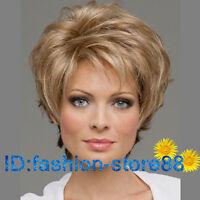 Hot! Sexy Women's Short Mix Blonde Fashion wig Natural Hair wigs + Free wig cap