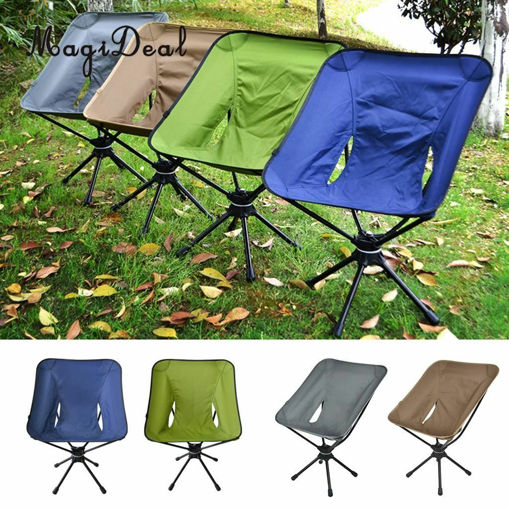 360 redating Swivel Chair Carry Bag Outdoor Portable Folding Beach Camping Tool