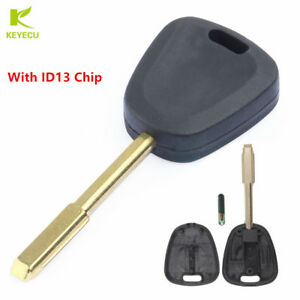 FIT JAGUAR NEW REPLACEMENT TRANSPONDER CHIPPED UNCUT BLADE IGNITION KEY BLANK