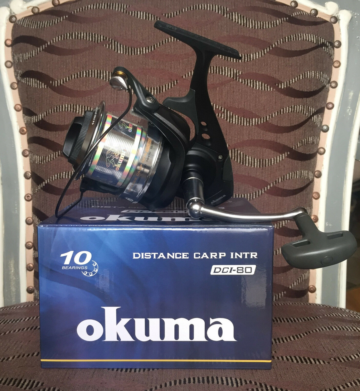 Okuma Distance Distance Distance Carp PRO DCI-80FD Karpfenrolle f7a6f4