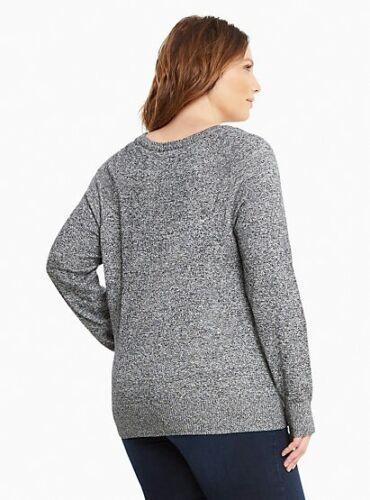 Nwt Maglione Large grigio 0x Size Plus 20 Raglan 0 Womens 13 Torrid raxYq8TAwr
