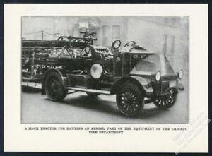 1920 Mack semi truck fire engine Chicago F D  truck photo