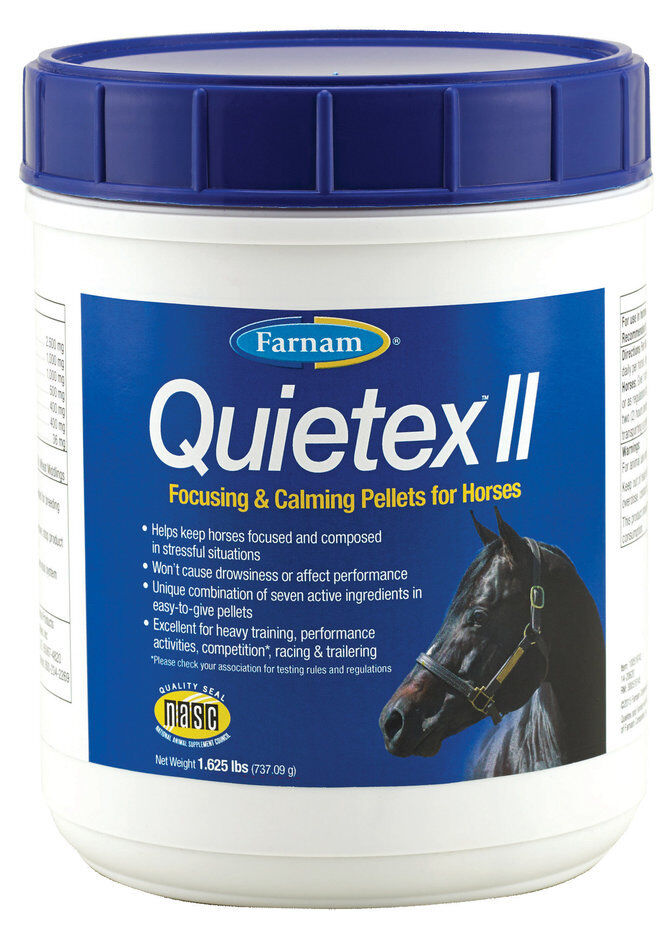 Quietex II Pellets  1.62lbs  Calming Aid for Horses  hastened to see