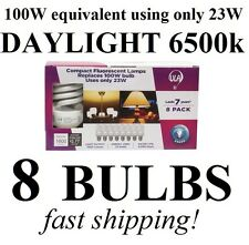 (8-Pack) DAYLIGHT 100W Equivalent 23-Watt 1600 Lumens ULA CFL Light Bulbs