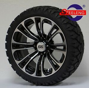 All Terrain Tires >> Details About Golf Cart 14 Vector Wheels Rims And 20 Stinger All Terrain Tires Dot Rated