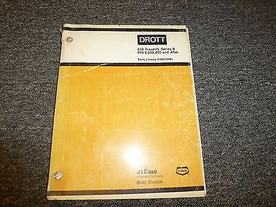 Case Drott 650 Travelift Series B PIN 6209400 Parts Catalog Manual 1980
