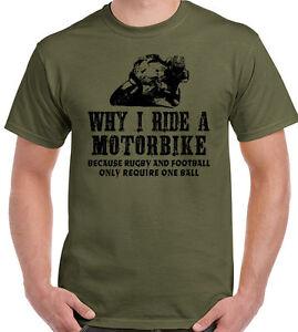 d8f7c67eb Why I Ride A Motorbike Mens Funny T-Shirt Motorcycle Superbike Biker ...